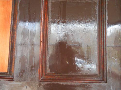 木製玄関ドア塗装 西宮市