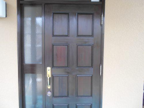 玄関ドア塗装 西宮市