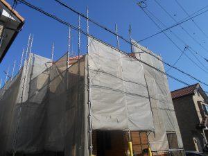 外壁塗装 兵庫川西市 足場