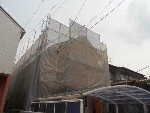 外壁の足場設置